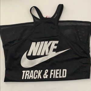 Mesh Nike Track and Field Tank
